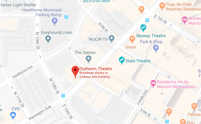 Orpheum Theatre location